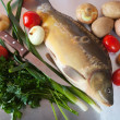 Raw fresh carp fish — Photo