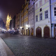 Prague in night.   Czechia — Stock Photo