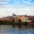 Prague from Vltava side, Czechia — Stock Photo