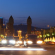Barcelona in night - Stock Photo
