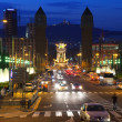 Barcelona in night. Spain - Stock Photo