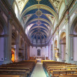 Interior of   catholic church — Stock Photo