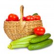 图库照片: Fresh vegetables in basket