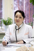 Portrait of female doctor — Стоковое фото