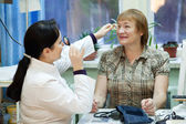 Ophthalmologist and patient — Stock Photo