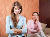 Teen daughter and mother having quarrel — Stock Photo