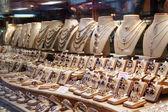 Jewelry in store window — Stock Photo