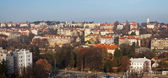 Panorama of residential district in Prague — Stock Photo