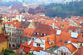Top view of Prague — Stock Photo