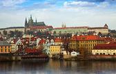 查看布拉格城堡、 czechia — 图库照片