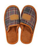 Home slipper. Isolated over white — Stock Photo