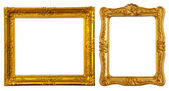 Two gold frames — Stock Photo