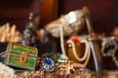 Treasure chests with jewellery — Stock Photo