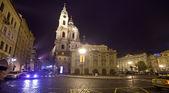 Prag i natt. tjeckien — Stockfoto