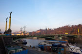 Cechuv bridge over Vltava — Stock Photo