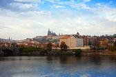 Prag från vltava sida, tjeckien — Stockfoto