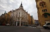 Straat in praag, tsjechië — Stockfoto