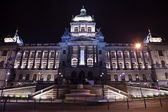 National Museum in night. Prague — Foto Stock