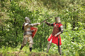 Knights tilting — Stock Photo