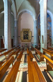Interior of catholic church — Stock Photo