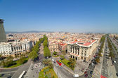 Wide angle shot of Barcelona — Stock Photo