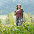 Stock Photo: Female hiker