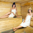Young  women  in  sauna - Foto Stock