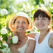 Two women in Roseum plant — Stock Photo