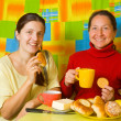 Stock Photo: Women having tea