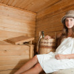 Girl in sauna — Stock Photo #9892639