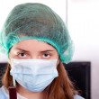 Doctor student in clinic — Stock Photo #9892644