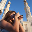 Travel photographer with digital camera - Foto de Stock