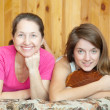 Stock Photo: Teenager daughter and mother