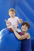 Happy mother with toddler — Stock Photo