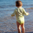 Rear view toddler in sea — Stock Photo #9912057