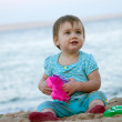 Toddler playing on sand — Stock Photo #9912065