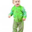Happy toddler over white — Stock Photo #9912070