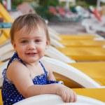 Happy toddler at resort — Stock Photo #9912121