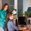 Two women in office — Stock Photo #9912679