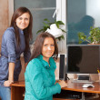 Two women in office — Stock Photo #9912680