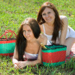 Women relaxing outdoor in grass — Stock Photo #9912689