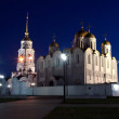 Assumption cathedral  at Vladimir in  night — Stock Photo