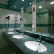 Stock Photo: Toilet with few sinks