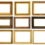 Set of horizontally gold frames — Stock Photo