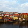 Prague from Vltava. Czech Republic — Stok Fotoğraf #9913369