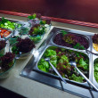 Vegetables in trays — Stockfoto