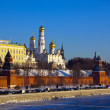 Royalty-Free Stock Photo: Moscow Kremlin  and   Moskva River in winter
