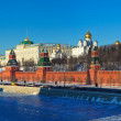 Panorama of Moscow Kremlin in winte — Stock Photo