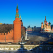 View of Moscow Kremlin in winter — ストック写真