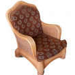Wattled armchair. Isolated over white - Stock Photo